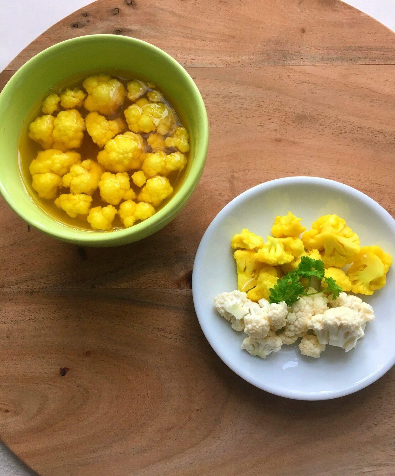 Blomkål med gurkemeje
