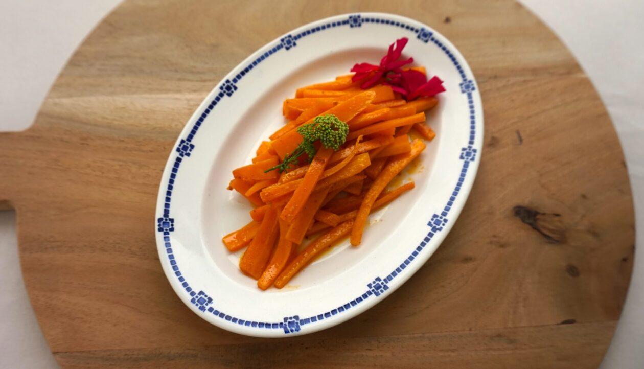 Smørdampet gulerødder