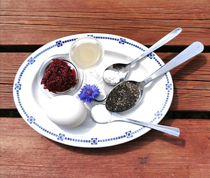Tallerken med ingredienser