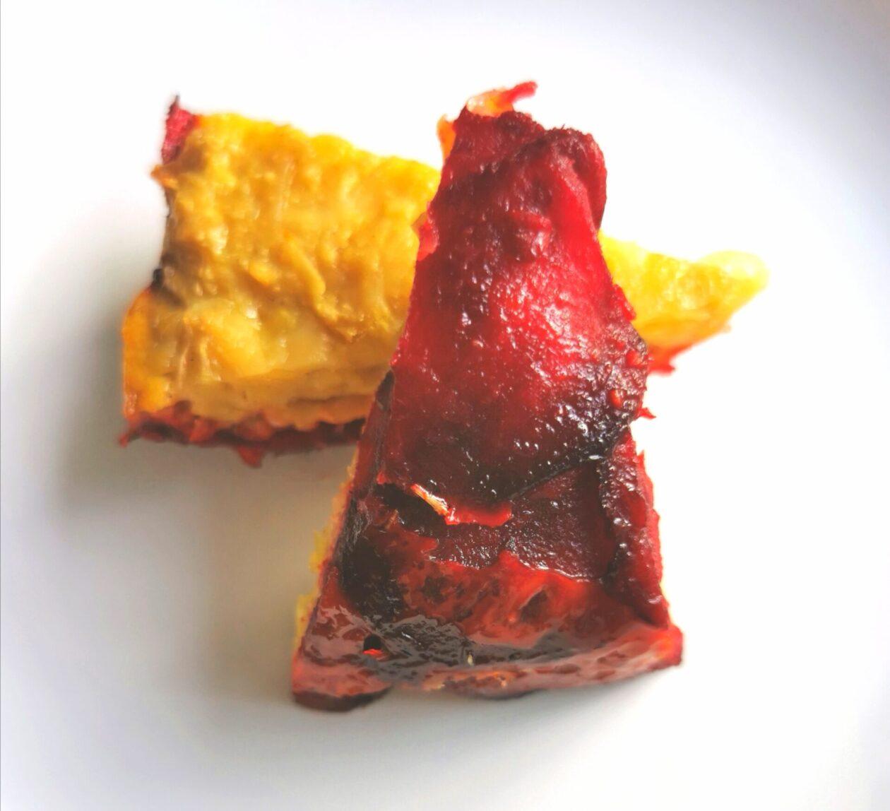 Kartoffel rösti på rødbedebund
